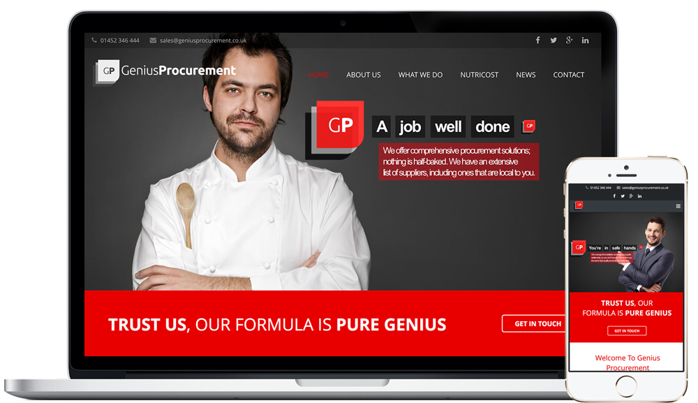 Our New Website Is Now Live! - Genius Procurement